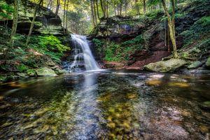 Заставки водоток, лес, скалы
