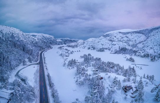Photo free Winter road, Orland, Norway