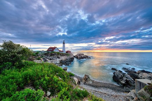 Фото бесплатно Portland Head Light, LIghthouse, Cape Elizabeth