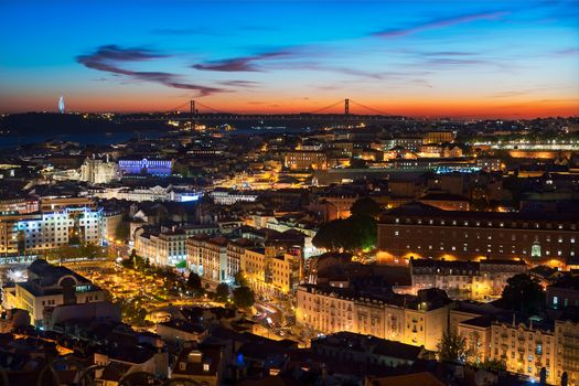 Фото бесплатно иллюминация, город, лиссабон