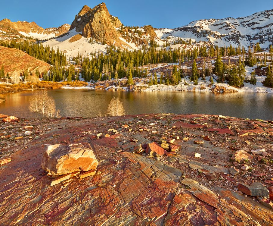 Фото бесплатно озеро Бланш, Юта, горы - на рабочий стол