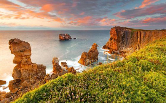 Фото бесплатно океан, пейзажи, восход солнца