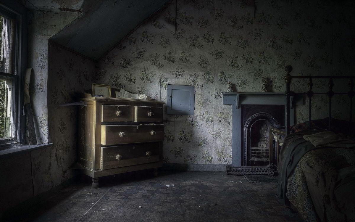 Фото бесплатно старая комната, темная тема, дизайн интерьера - на рабочий стол