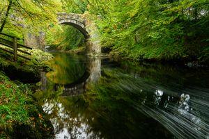 Бесплатные фото осень,река,мост,арка,лес деревья,природа,пейзаж
