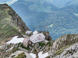 Фото бесплатно альпийская, хижина, Alpstein, Switzerland