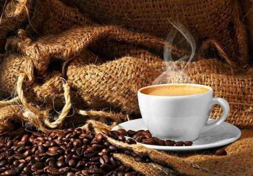 Кофе и мешковина