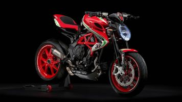 Photo free mv agusta dragster 800 rc, red, side view