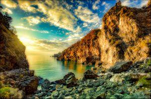Фото бесплатно Италия, море, скалы
