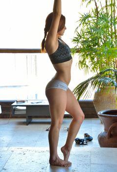Фото бесплатно Jessica Robbin, гимнастика, нижнее белье