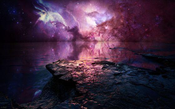 Фото бесплатно туманность, скалы, океан