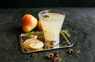 Фото бесплатно стакан, напиток, фрукты