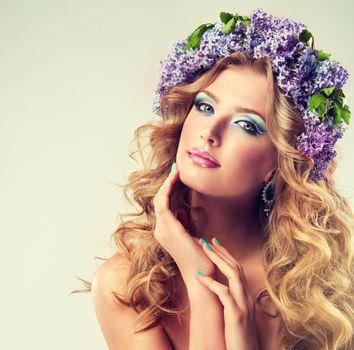 Фото бесплатно девушка, макияж, блондинка