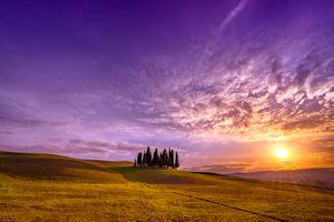 Заставки Тоскана, Италия, поле