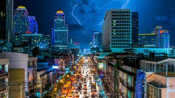 Photo free Bangkok, road, architecture