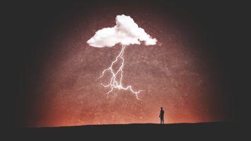 Фото бесплатно Облака, Гром, Минимализм