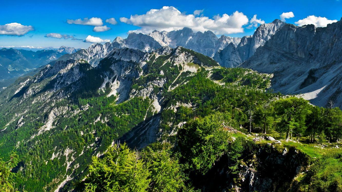 Фото бесплатно лето, горы, склон - на рабочий стол
