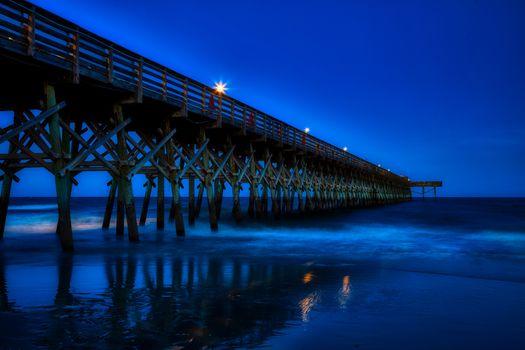 Бесплатные фото миртл бич,южная каролина,америка,пирс,закат,сумерки,атлантический океан,море,взморье,туризм,размышления,пляж