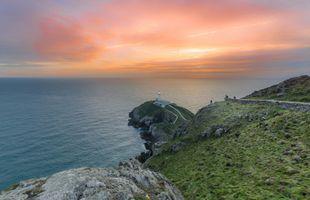 Бесплатные фото South Stack Lighthouse, Англси, Северный Уэльс, закат, море, маяк, пейзаж