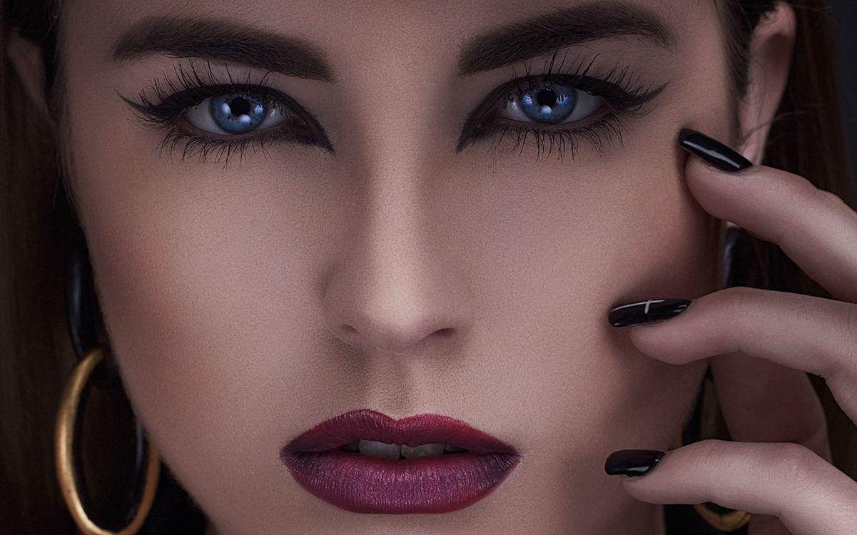 Обои Maria Hurtado, портретное фото, девушка, девушки, макияж, лицо, косметика картинки на телефон