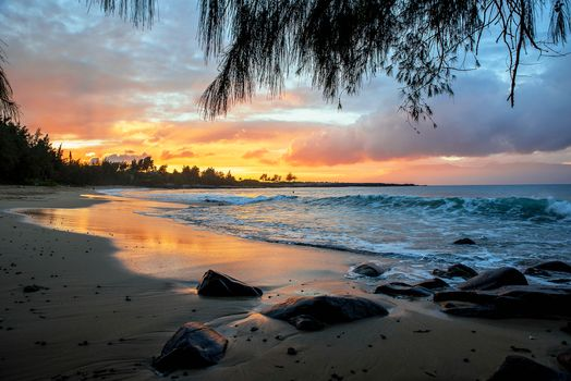 Photo free Sunset in Kapalua, sunset, sea