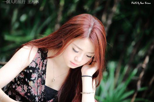 Бесплатные фото азиатские,женщины,рыжий,длинные волосы,ожерелье,браслеты