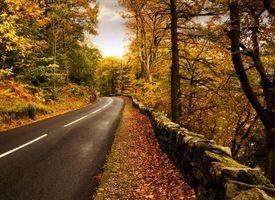 Заставки облака, цвета, забор, леса, пейзажи, листья, nuture, дороги, скалы, небо, камни, полосы