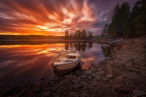 Фото бесплатно Norway, лодка, небо