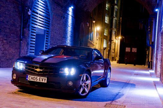 Photo free Chevrolet, Camaro, night