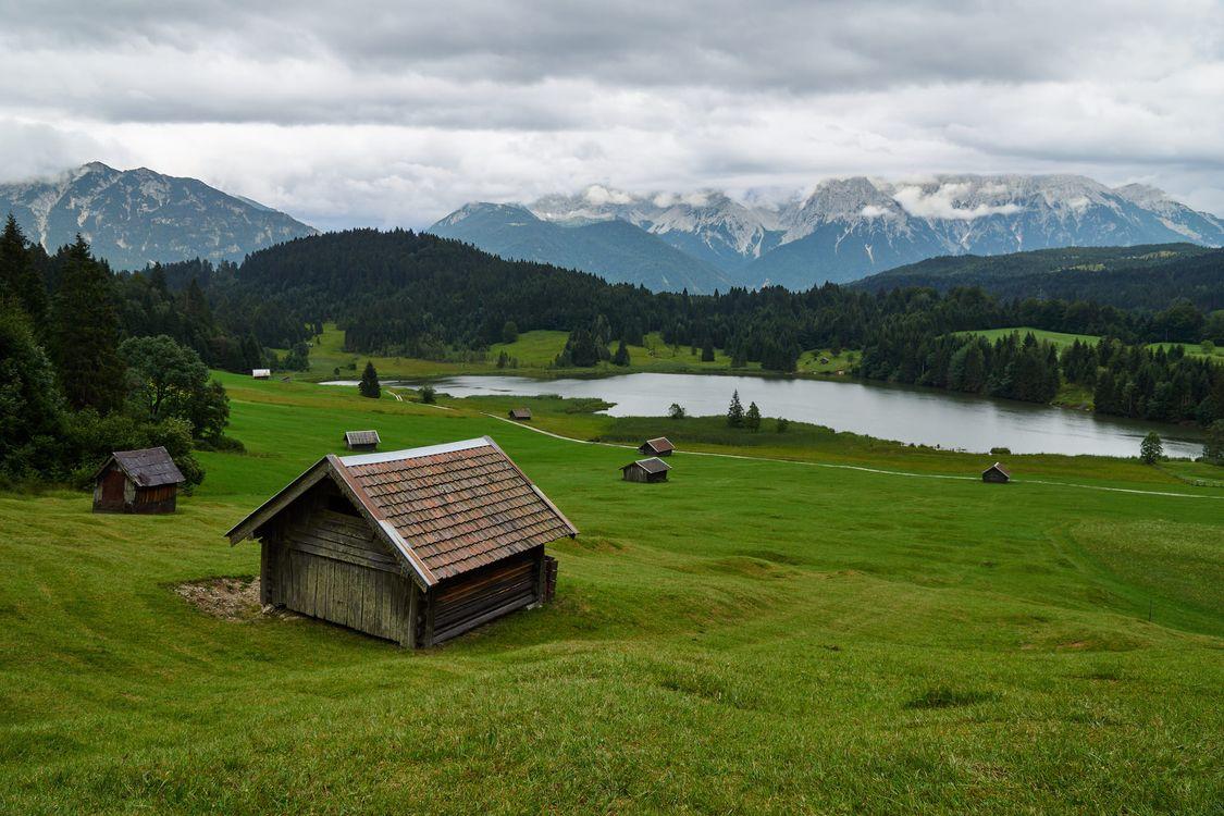 Фото бесплатно Альпы, Партенкирхен, страна - на рабочий стол