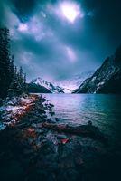 Бесплатные фото обои,закат,фон блокировки экрана,камень,облако,снег,каскад