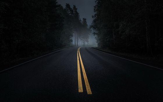 Photo free landscape, mood, night