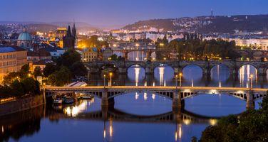 Фото бесплатно Мосты через реку Влтаву, Прага, Чехия