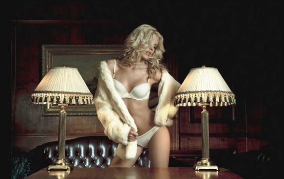 Фото бесплатно Поса, Блондинка, фотосессия