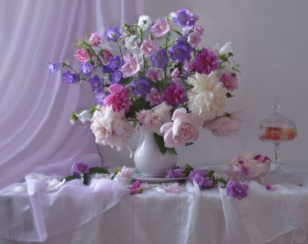 Photo free bouquet, Assorted, peonies