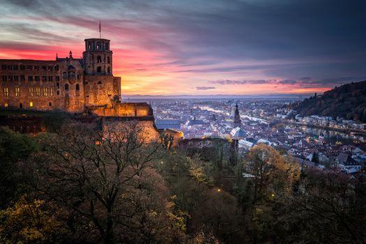 Фото бесплатно Heidelberg Castle, Heidelberg, Baden-Wurttemberg