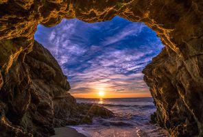 Фото бесплатно Закат, Malibu, скалы