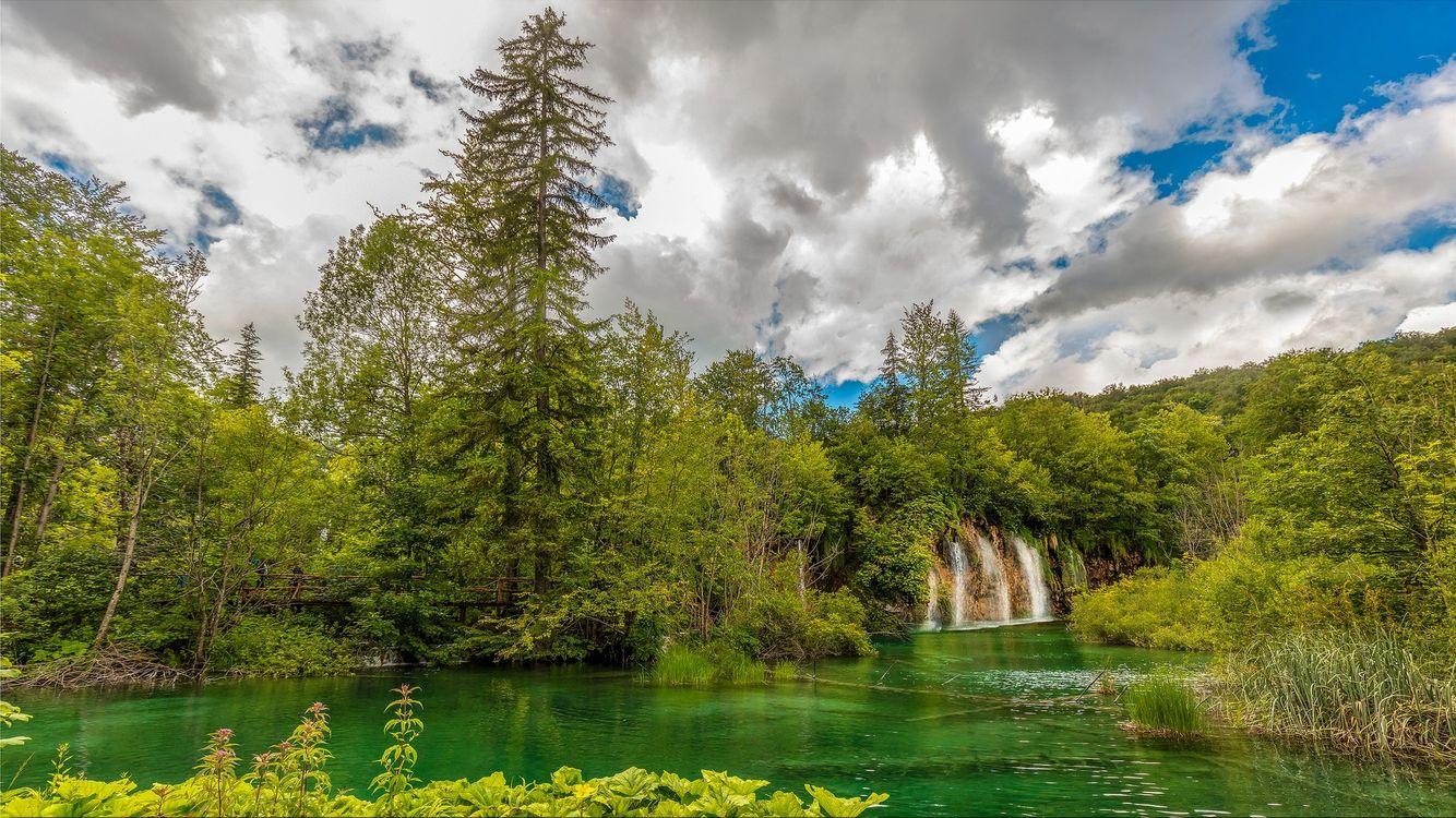 Фото бесплатно пейзаж, национальные озера парк Плитвицкие, Плитвицкие озера - на рабочий стол