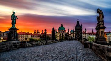 Фото бесплатно дома, Карлов мост, Чехия