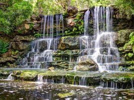 Бесплатные фото скалы,водопад,водоём,деревья,природа,пейзаж