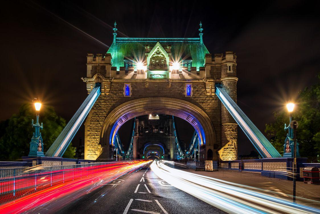 Фото бесплатно Tower bridge, London, ночь - на рабочий стол