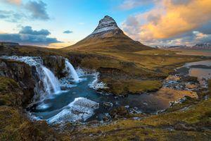 Фото бесплатно Kirkjufellsfoss, Гора Киркьюфетль, Исландия