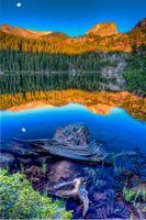 Фото бесплатно пейзаж, отражение, Медвежье озеро