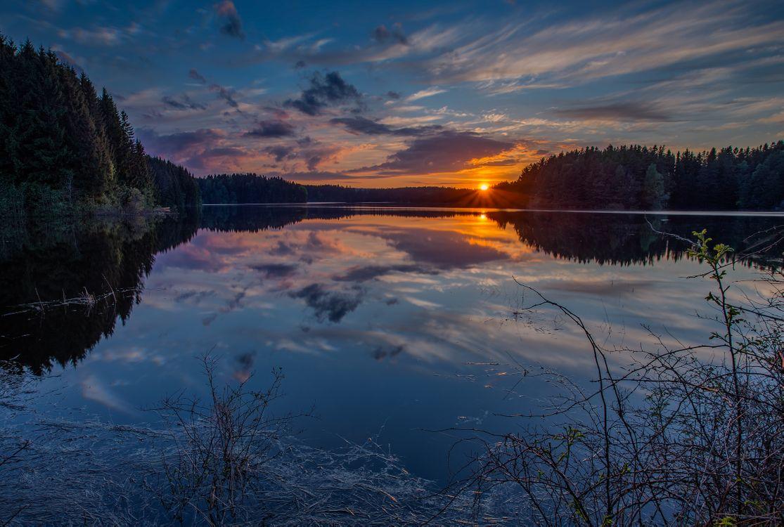 Фото бесплатно Sarpsborg, Norway, закат - на рабочий стол