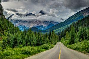 Заставки дорога, горы, Канада