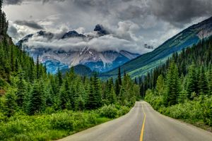 Фото бесплатно дорога, горы, Канада