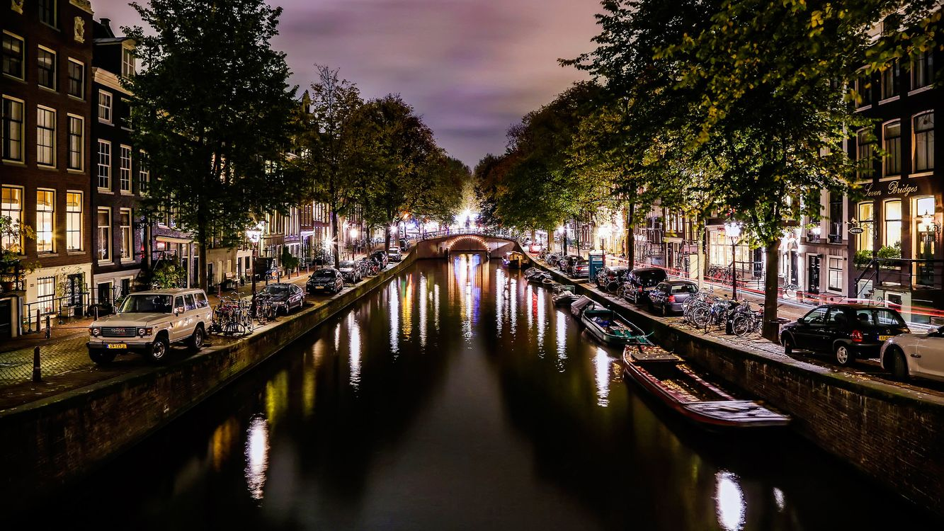 Фото бесплатно Амстердам, дом, канал - на рабочий стол