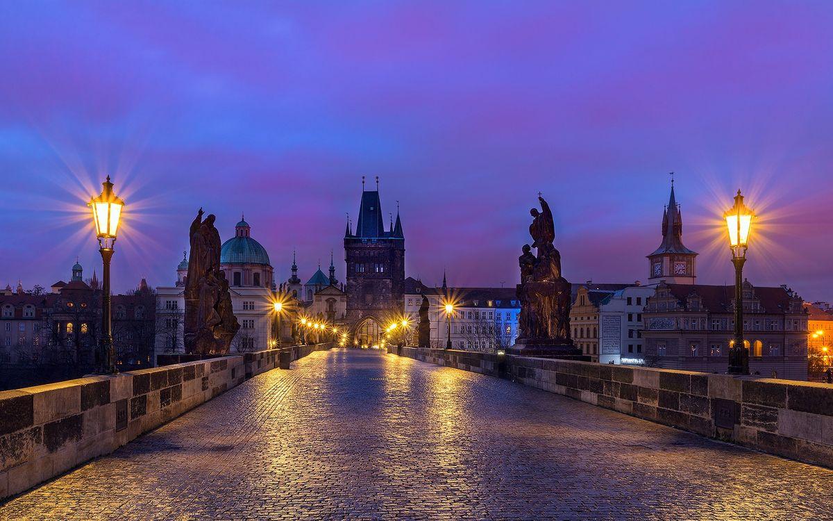 Фото бесплатно архитектура, Prague, ночь - на рабочий стол