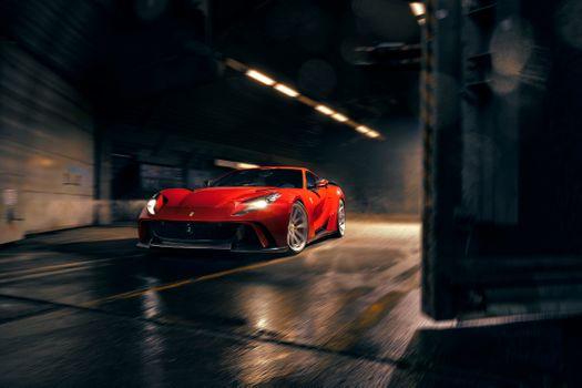 Фото бесплатно Ferrari 812, Ferrari, красный