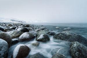 Бесплатные фото море,берег,вода,природа,камень,океан,зима