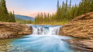 Бесплатные фото Sheep River Falls,Sheep River Provincial Park,Alberta,Canada,река,лес,скалы